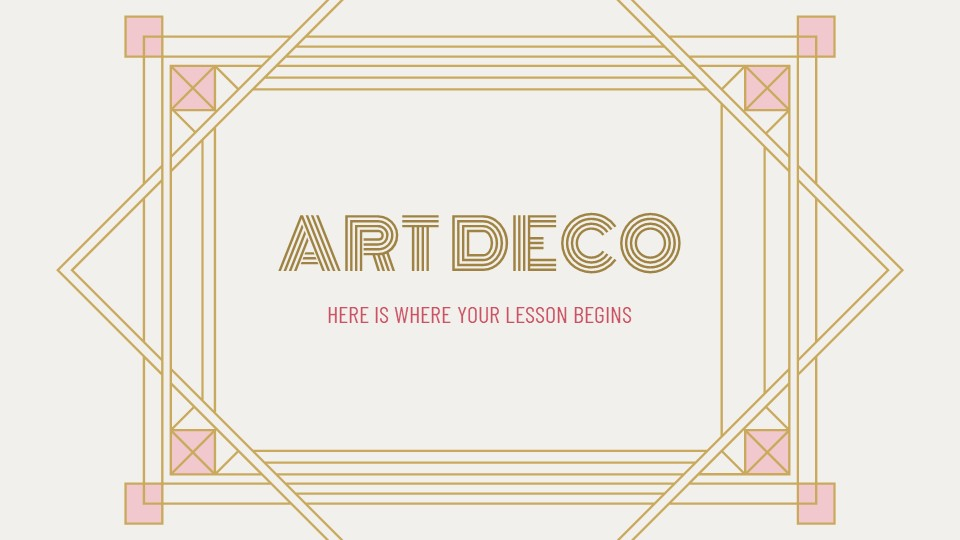 Art Deco Lesson Powerpoint Template1