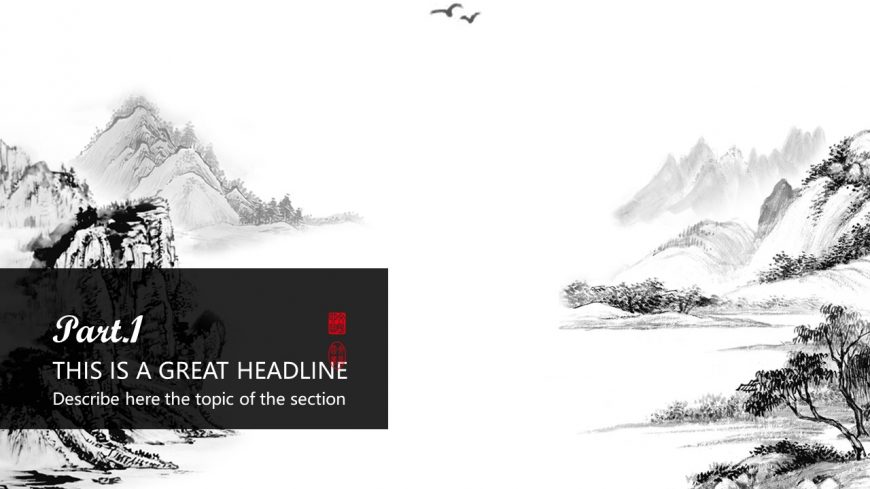 Chinese Ink Painting Powerpoint Template