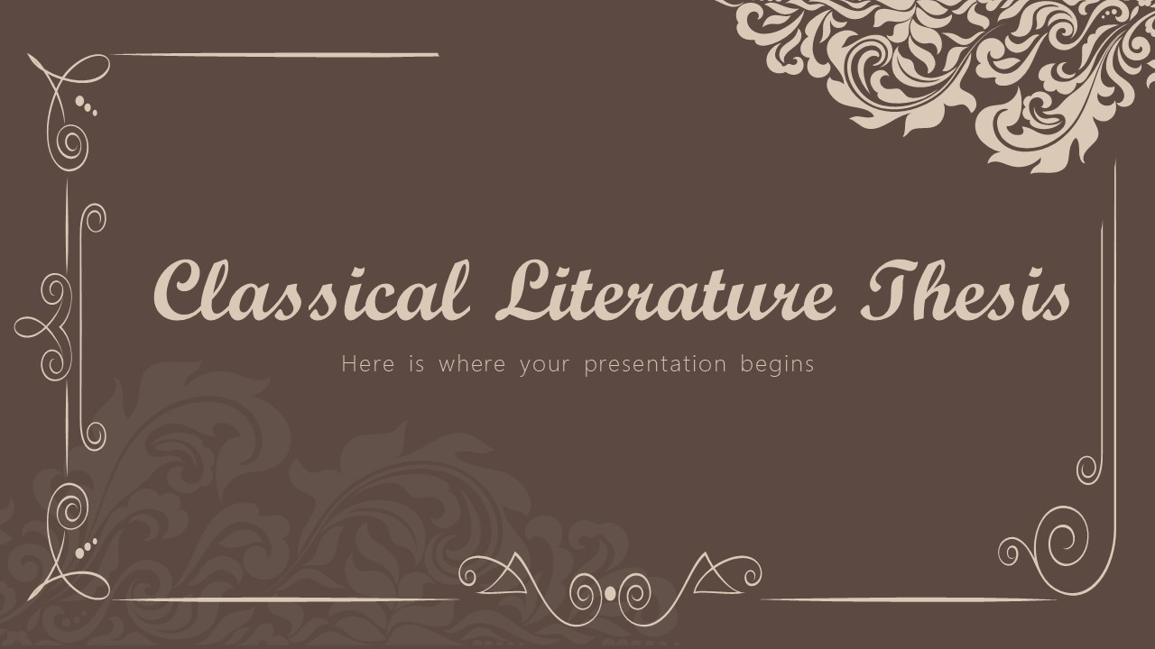 Classical Literature Thesis Powerpoint Template