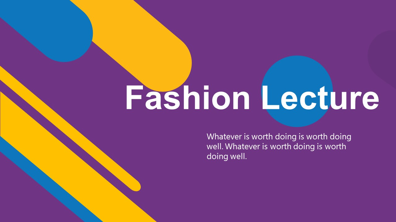 Fashion Lecture Colorful PowerPoint Template