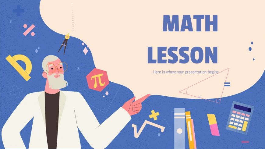 Math Lesson Powerpoint Template