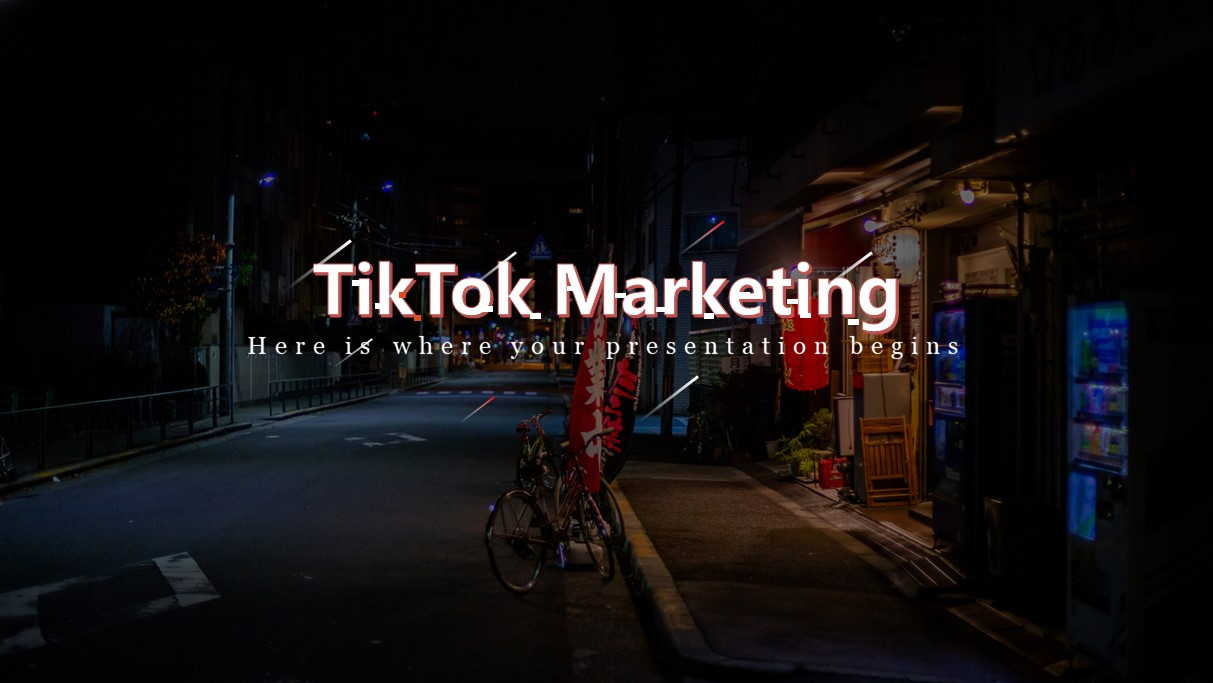 TikTok Marketing PowerPoint Template