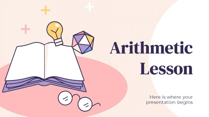 Arithmetic Lesson PowerPoint Template