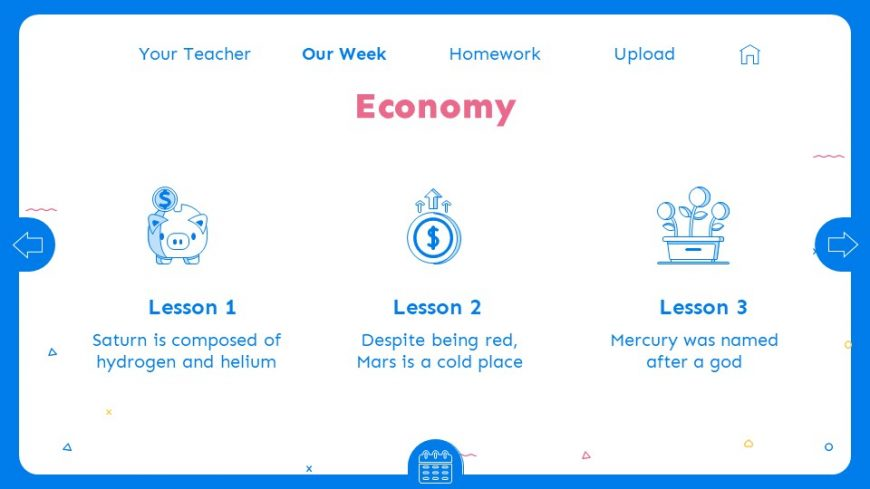 Blue E-Learning PowerPoint Template