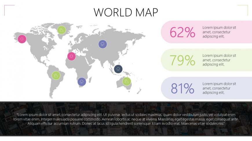 Colorful World Map Template