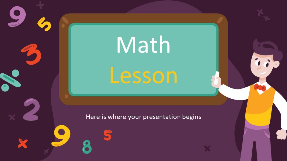 Creative Math Lesson PowerPoint Template