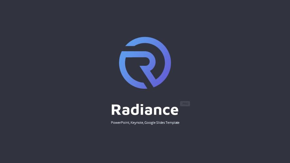 Dark Radiance Business PowerPoint Template