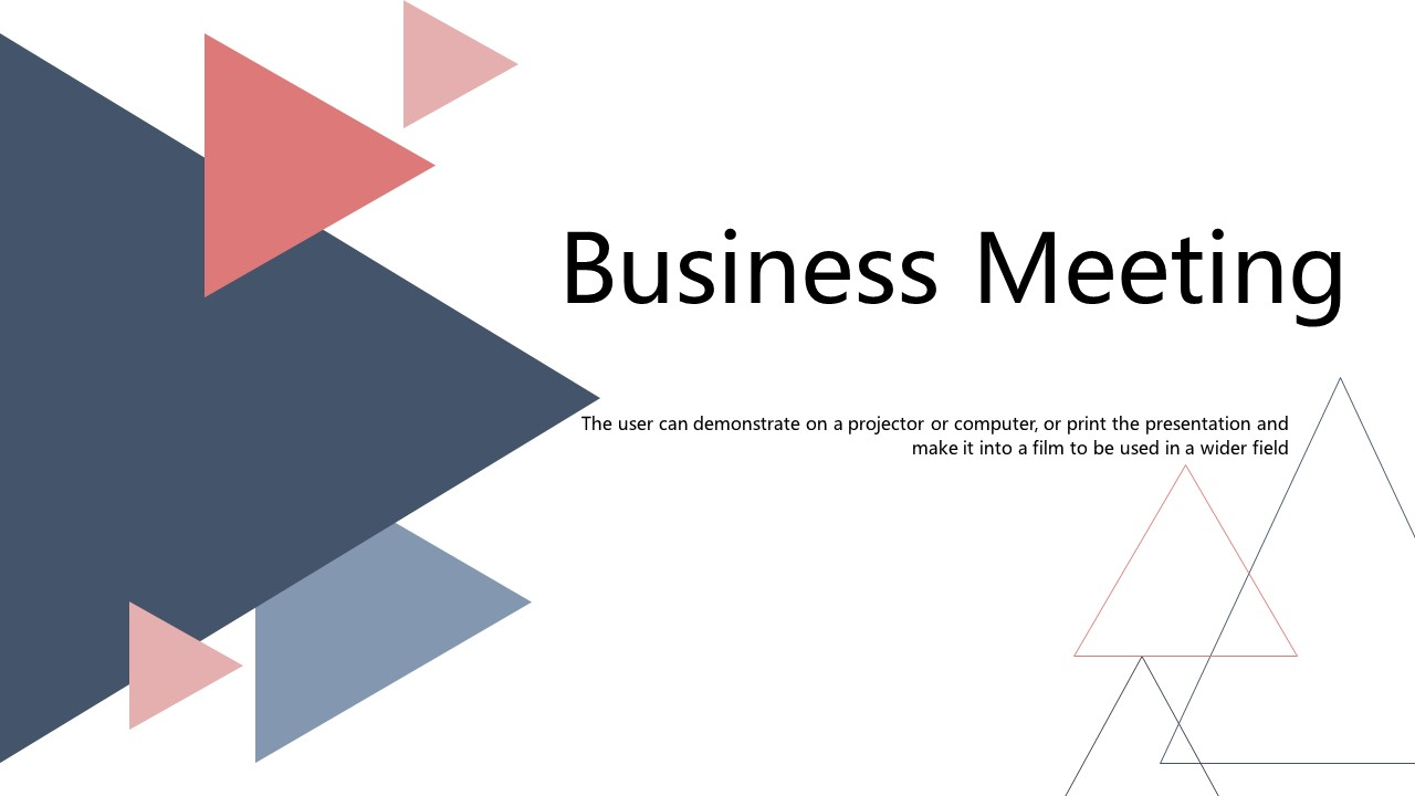 Geometric Business Meeting PowerPoint Template1