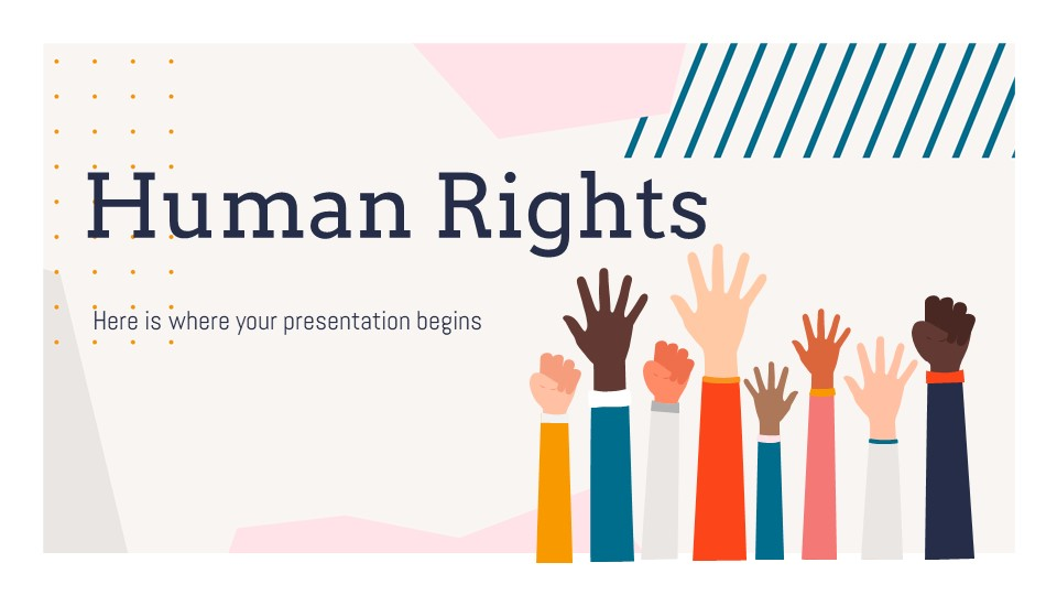 Human Rights Lesson PowerPoint Template