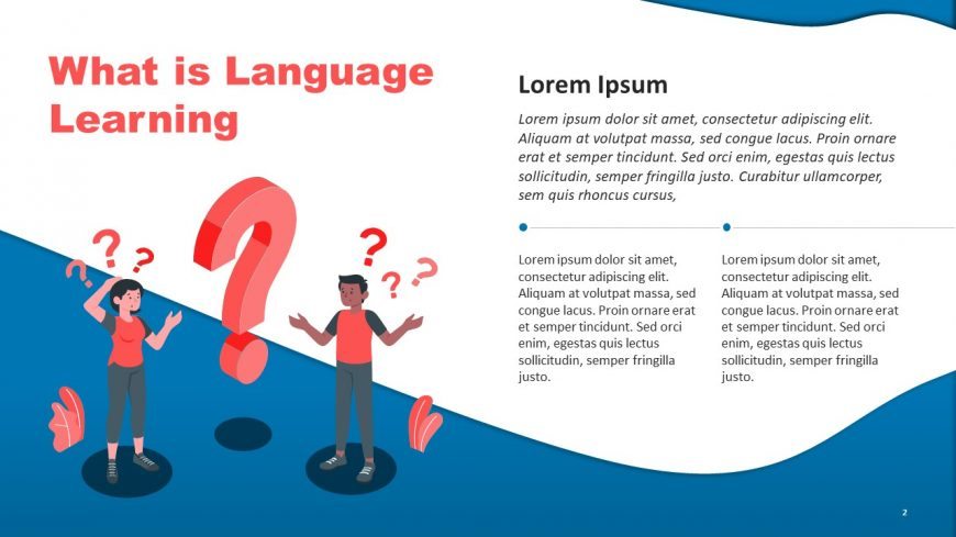 Language Lesson PowerPoint Template
