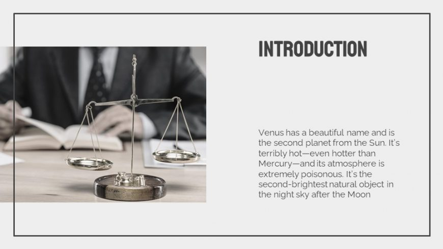 Law Lesson PowerPoint Template