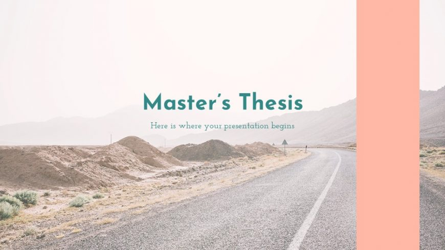 Master's Thesis Pink PowerPoint Template