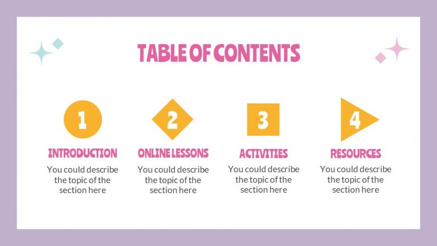 Online Course Daily Activities Template