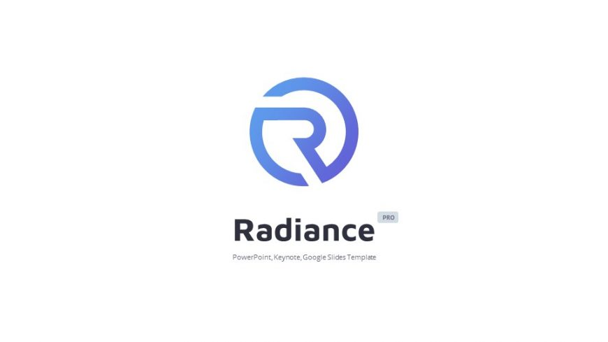 White Radiance Business PowerPoint Template