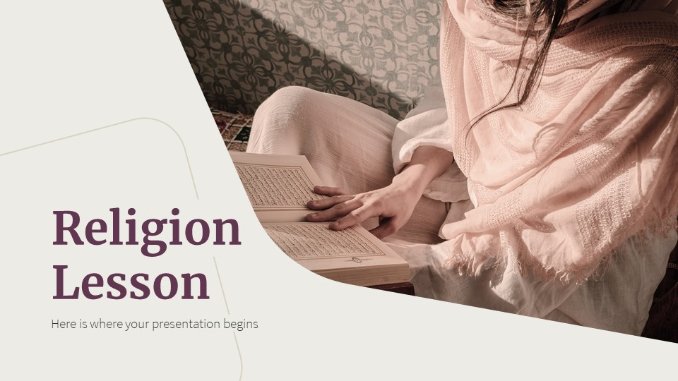 Religion Lesson PowerPoint Template1
