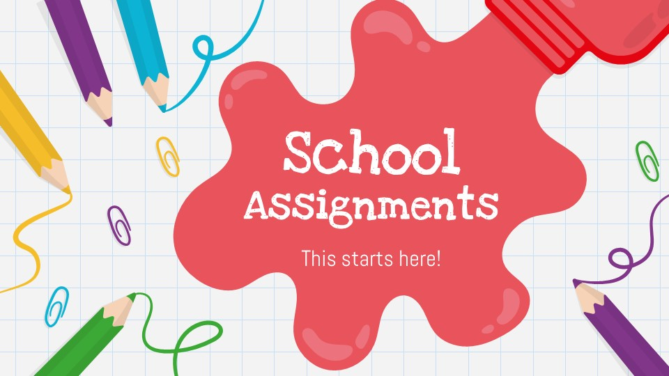 School Assignments PowerPoint Template