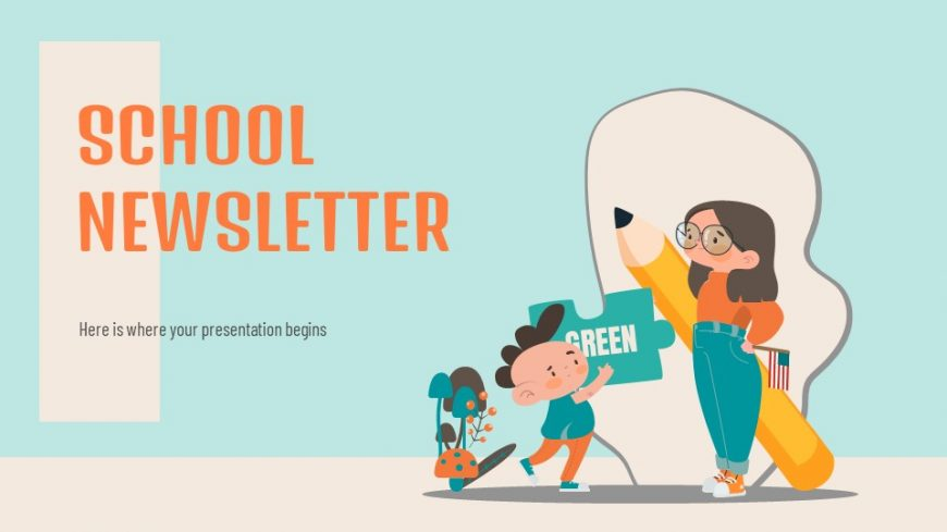School Newsletter PowerPoint Template