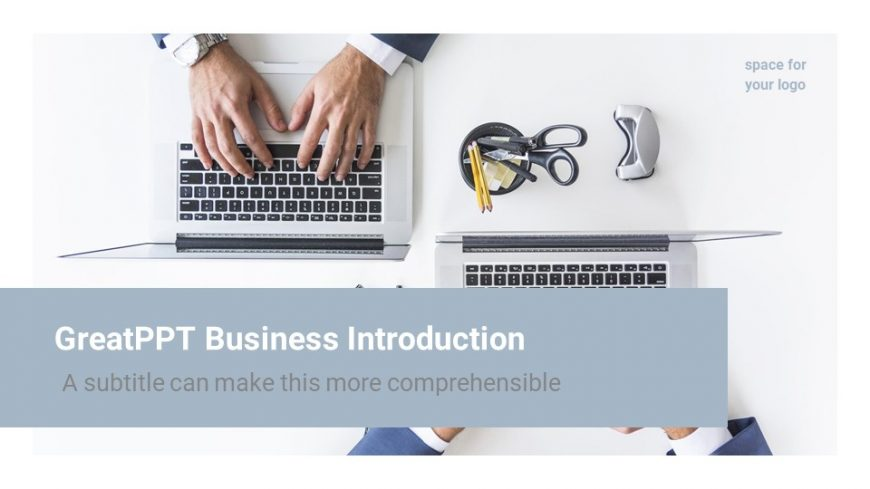 IT Company Introduction PowerPoint Template