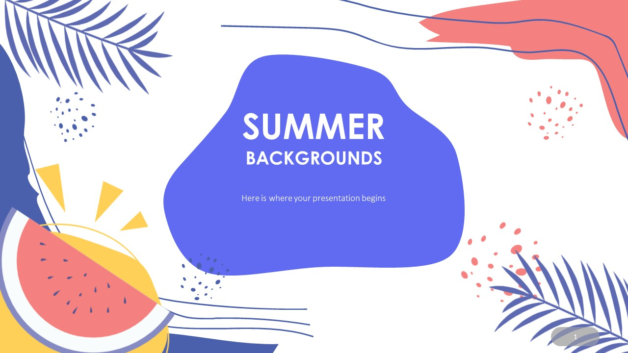 Summer Background Template