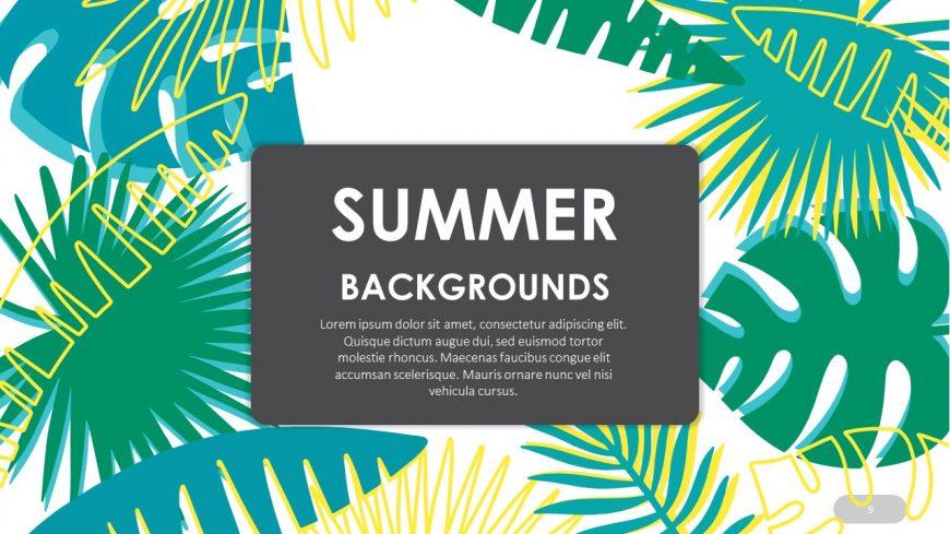 Summer Background Template