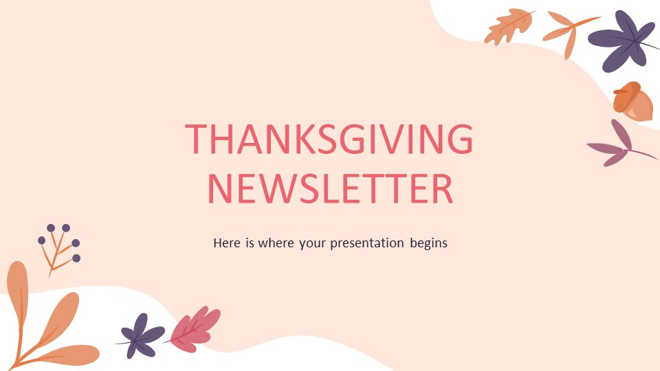 Thanksgiving Newsletter PowerPoint Template