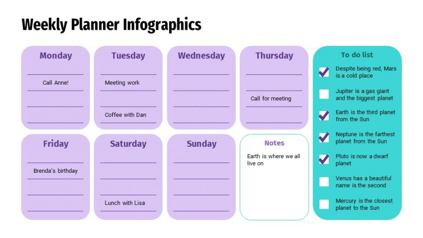 Weekly Planner Infographics