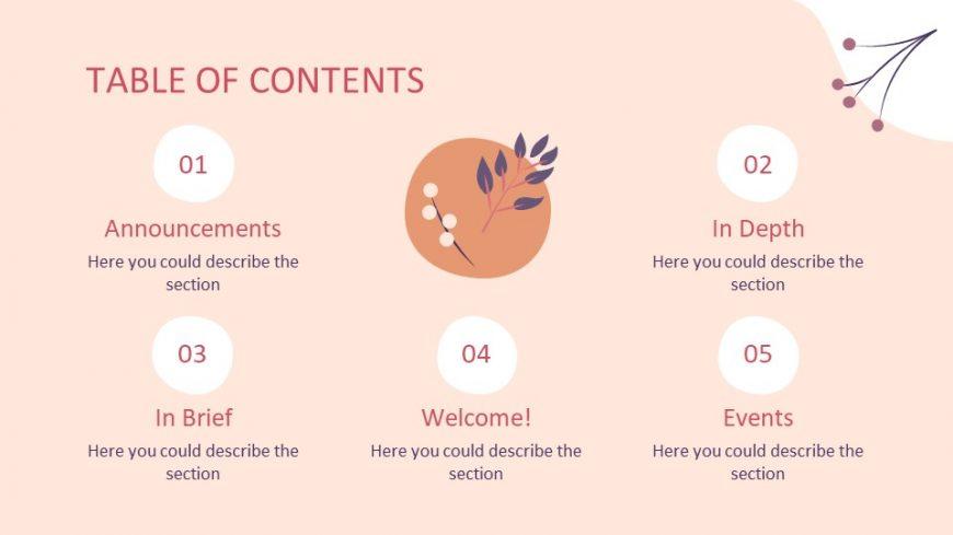 Thanksgiving Newsletter PowerPoint Template