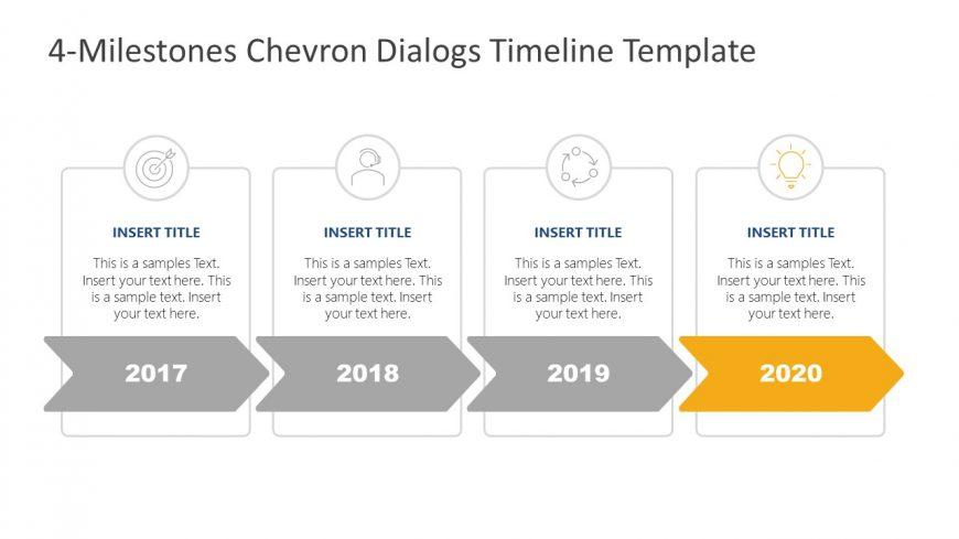 Chevron Dialogs Timeline Infographics
