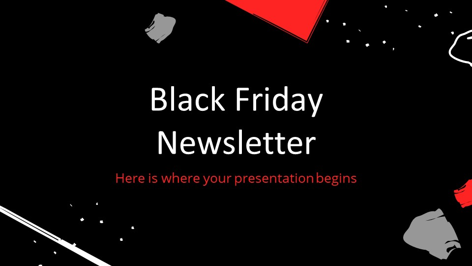 Black Friday Newsletter PowerPoint Template