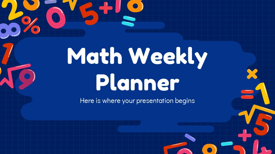 Math Weekly Lesson Plan PowerPoint Template1