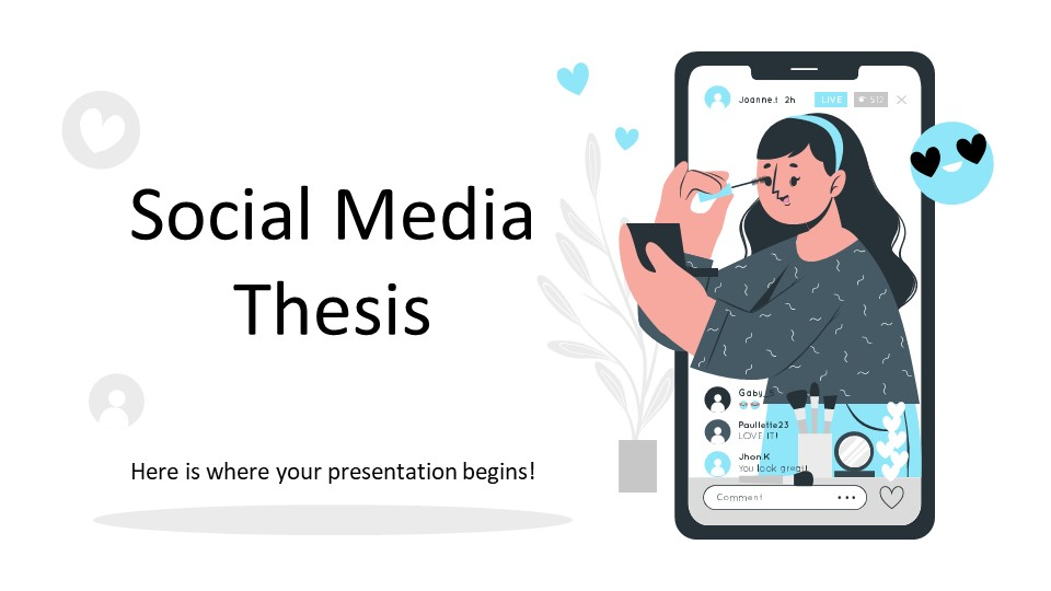 Social Media Thesis PowerPoint Template