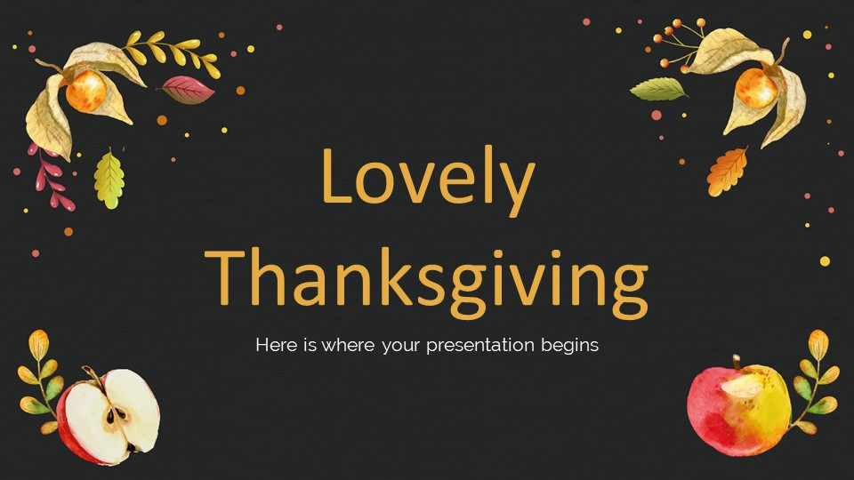 Black Thanksgiving Day PowerPoint Template