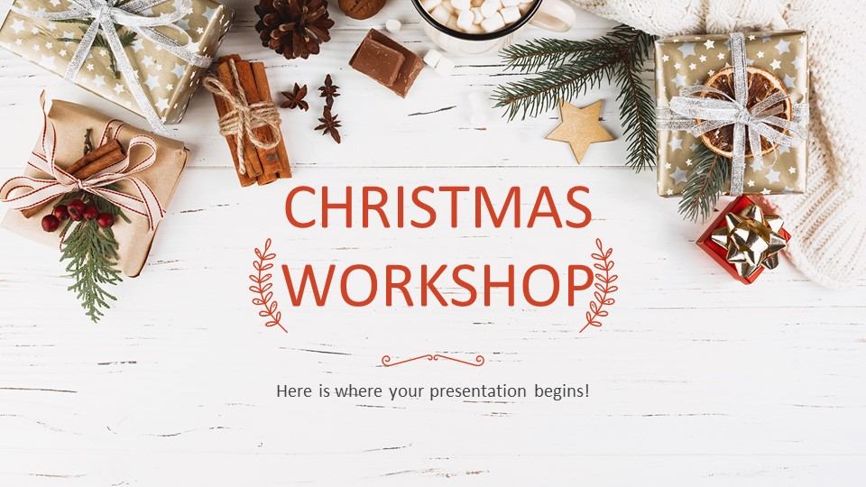 Christmas Workshop PowerPoint Template