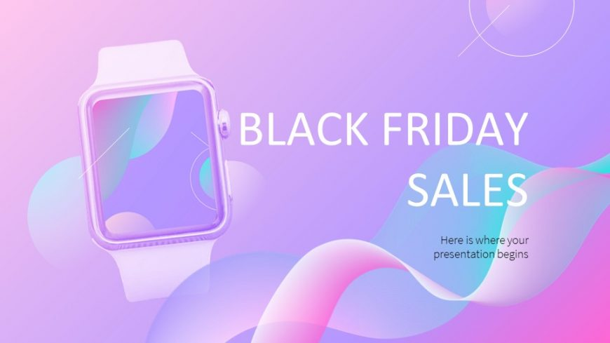 Colorful Black Friday Sales PowerPoint Template