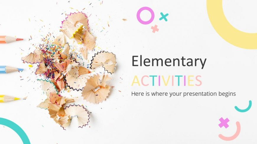 Elementary Activities Lesson PowerPoint Template
