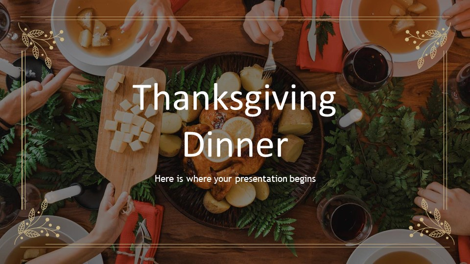 Thanksgiving Dinner PowerPoint Template