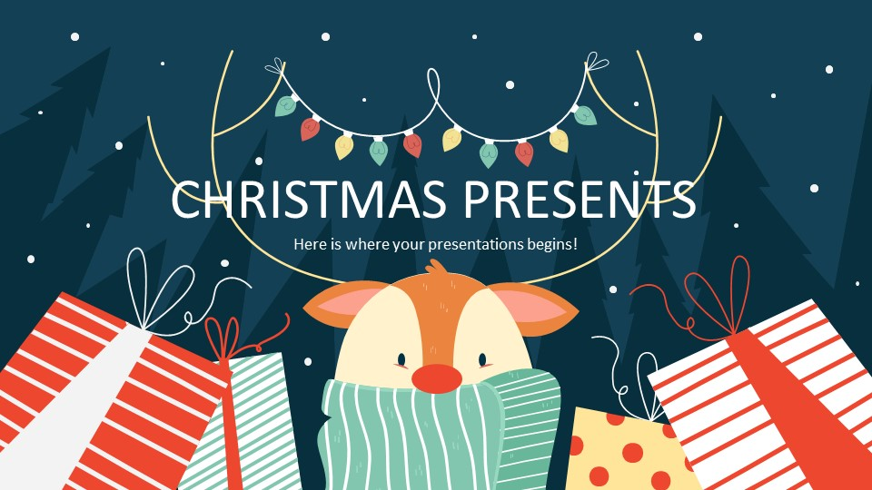 Christmas Presents PowerPoint Template