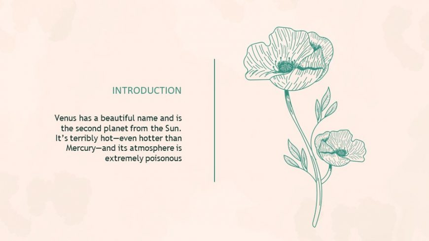 Green Botany Lesson PowerPoint Template