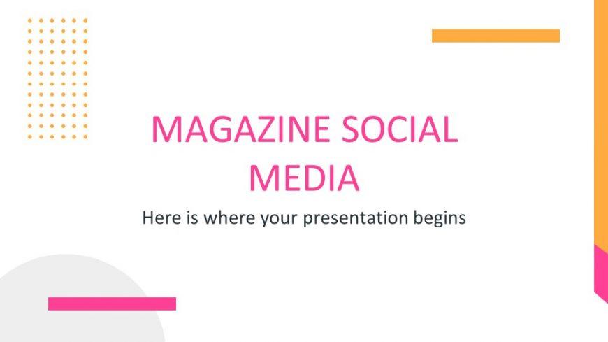 Magazine Social Media PowerPoint Template