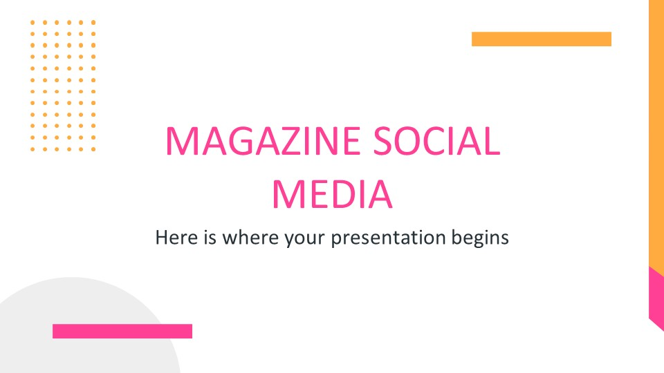 Magazine Social Media PowerPoint Template