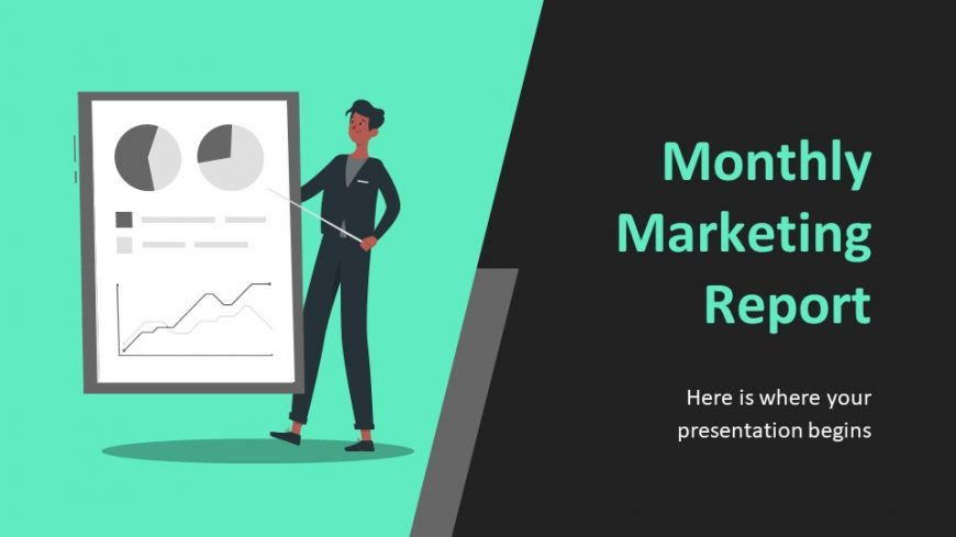 Monthly Marketing Report PowerPoint Template
