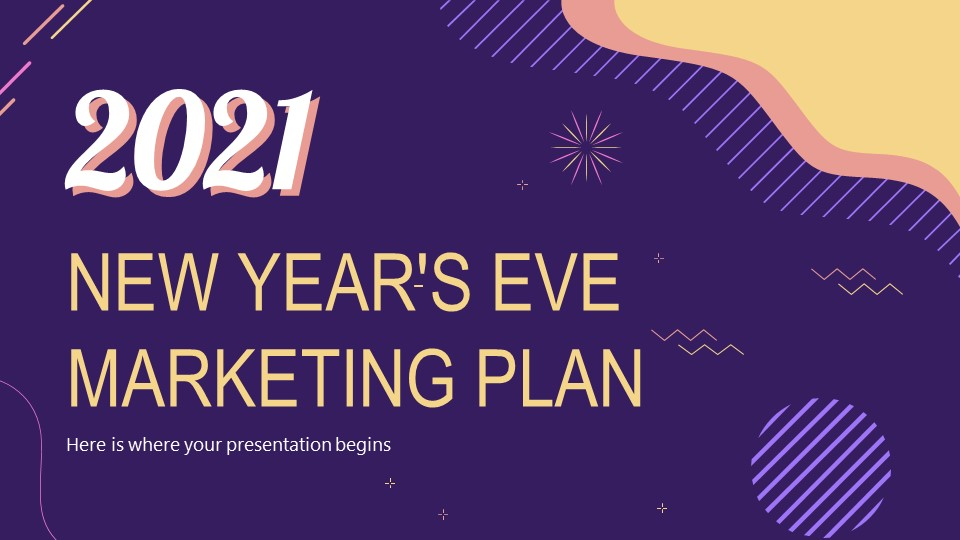 New Year's Eve Marketing Plan PowerPoint Template