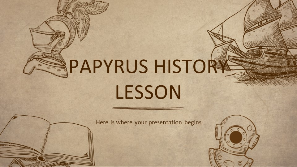 Papyrus History Lesson PowerPoint Template