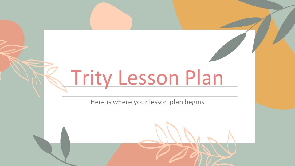 Trity Lesson Plan PowerPoint Template