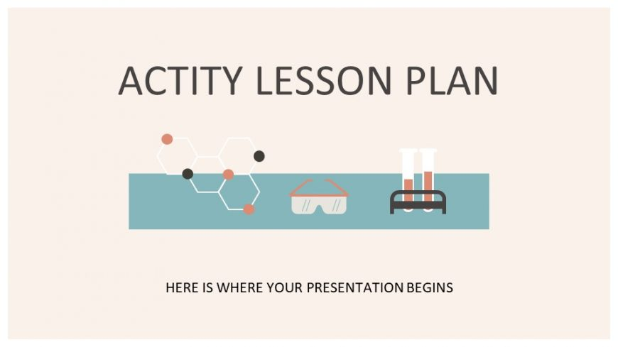 Actity Lesson Plan PowerPoint Template
