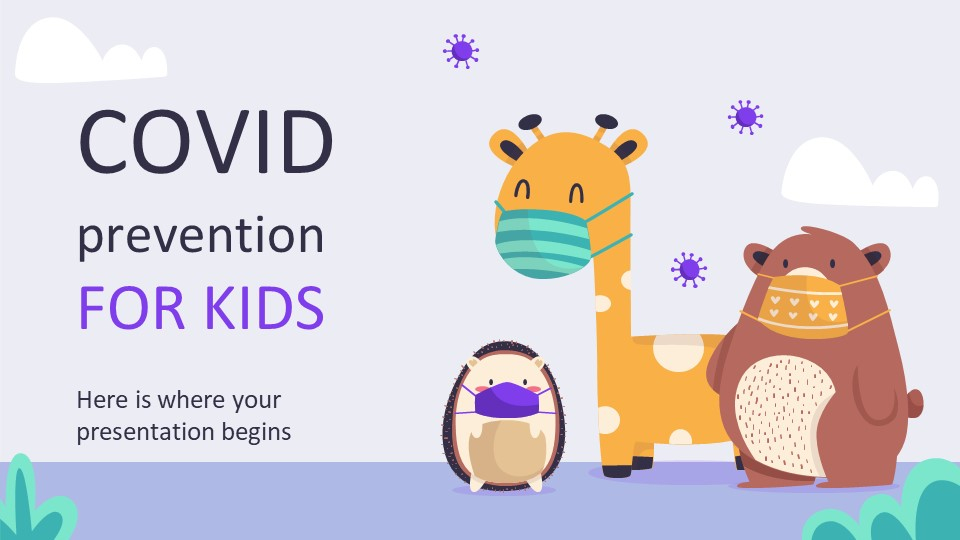 Covid Prevention for Kids PowerPoint Template