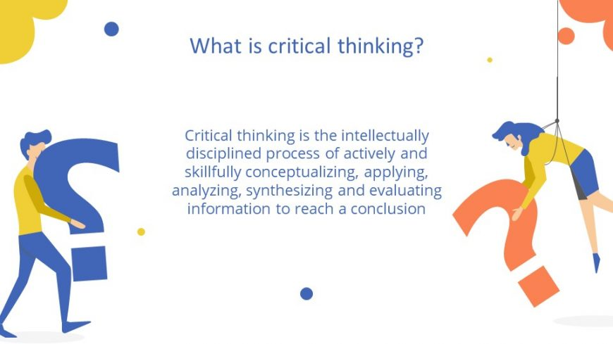 Critical Thinking Lesson PowerPoint Template